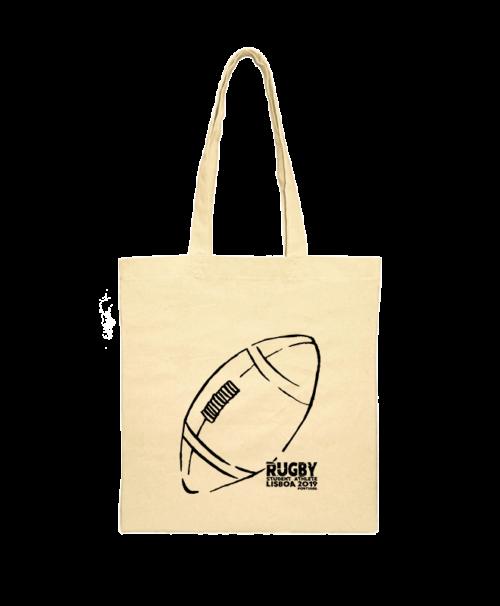 rugby balloon shoulder bag black printing creativelisbon