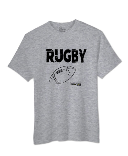 T-shirts Rugby Festival - Grey with black printing