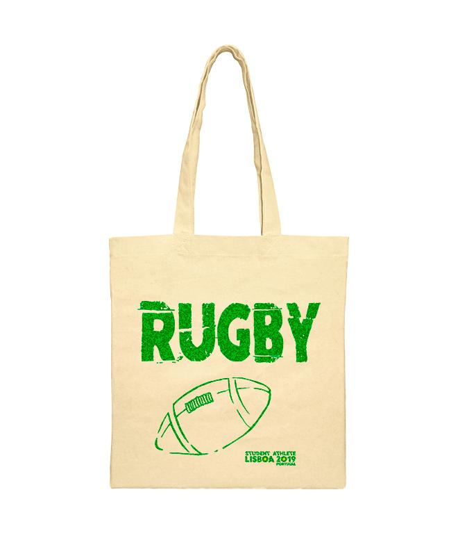 rugby festival shoulder bag green printing creativelisbon
