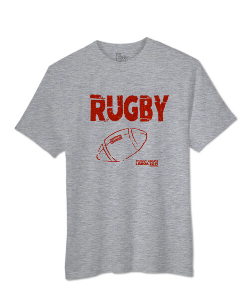 Rugby Festival Grey T-shirt with red printing