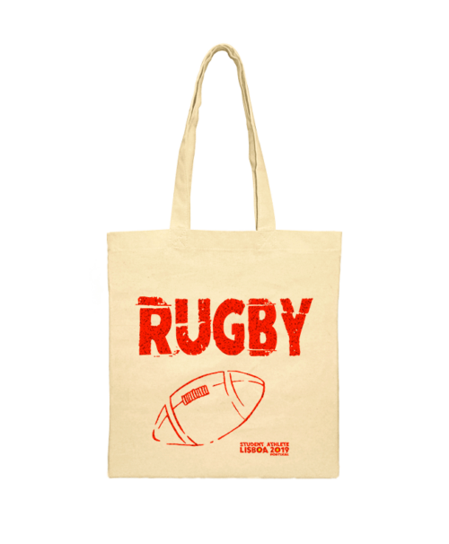 rugby festival shoulder bag red printing creativelisbon