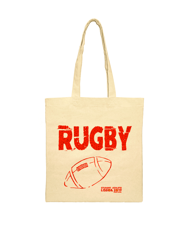 rugby festival shoulder bag red printing creativelisbon