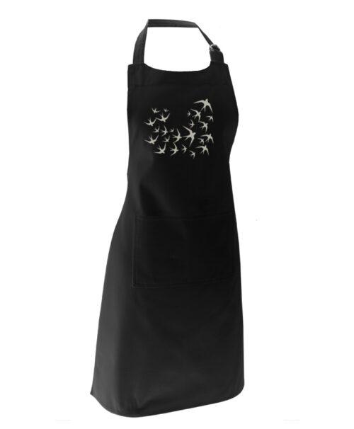 silver swallows black apron without lisboa