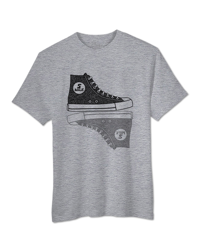 Sneakers T-shirt heather grey