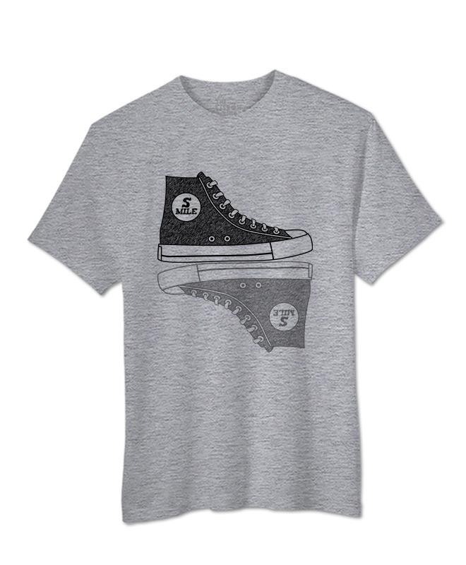 Sneakers T-shirt heather grey