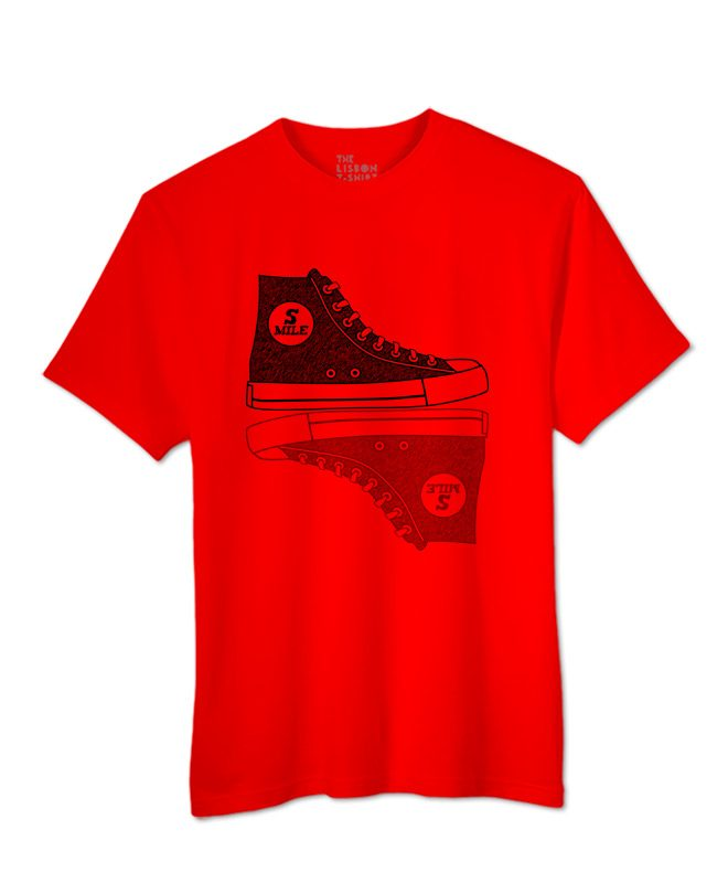 Sneakers T-shirt red