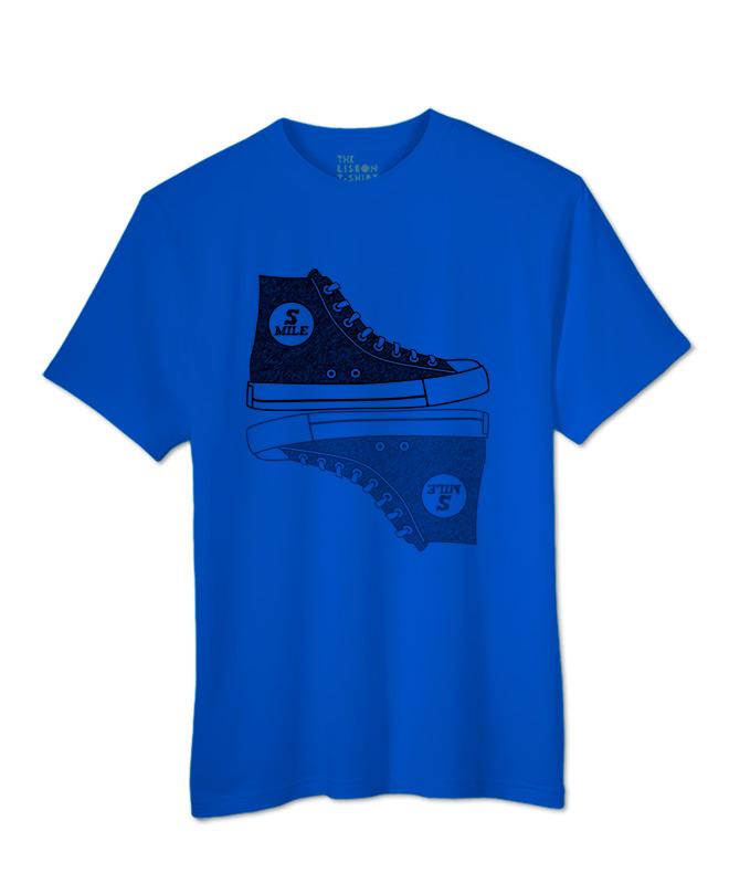 Sneakers T-shirt royal blue