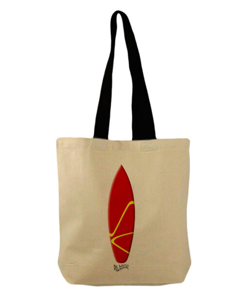 Red Surf Board Bucket Bag