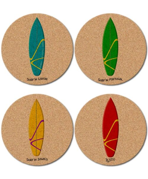 Surf in Portugal Cork Coasters