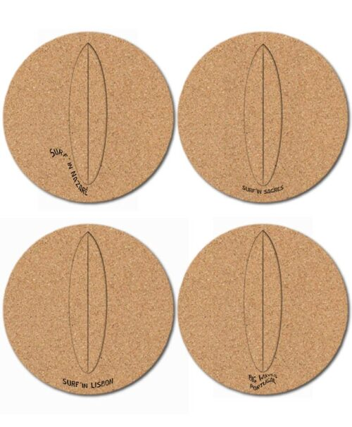 Surf Glass Board Cork Coasters