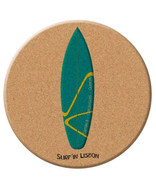 Emerald Surf Board Cork Trivet