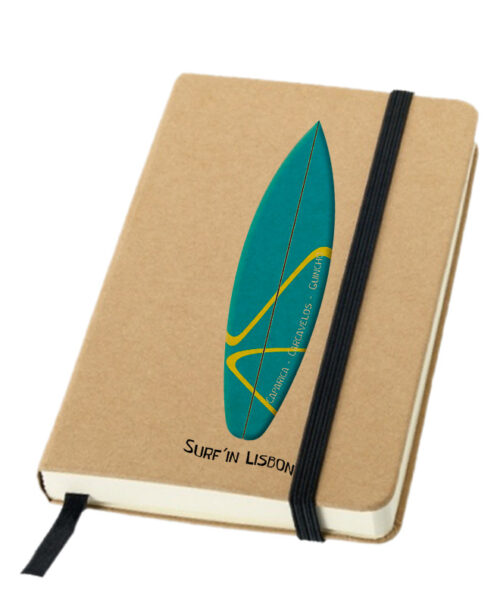 Emerald Surf Board Notebook