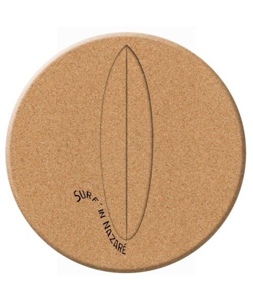 Glass Surf Board Cork Trivet