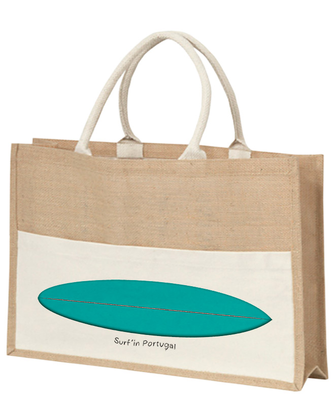 emerald surf board beach bag