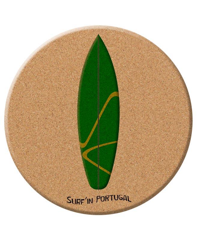 Green Surf Board Cork Trivet