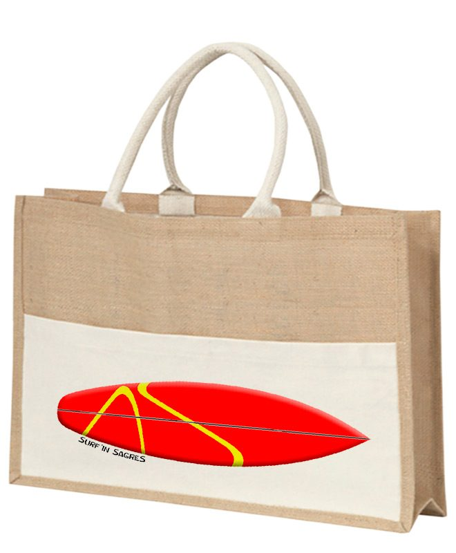 Red Surf Board Beach Bag