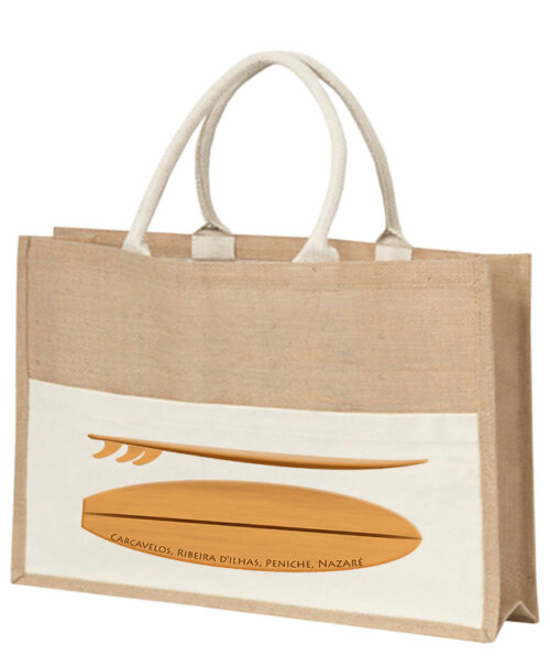wood surf board beach bag