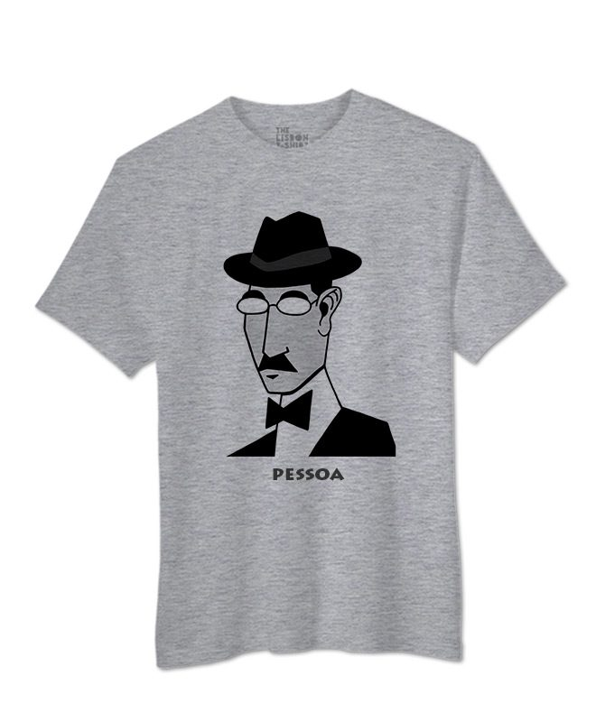 Pessoa t-shirt Heather grey creativelisbon