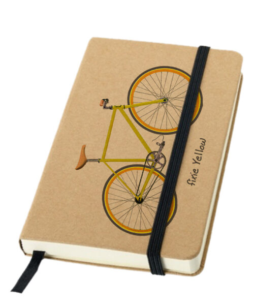 yellow Fixie bike notebook creativelisbon