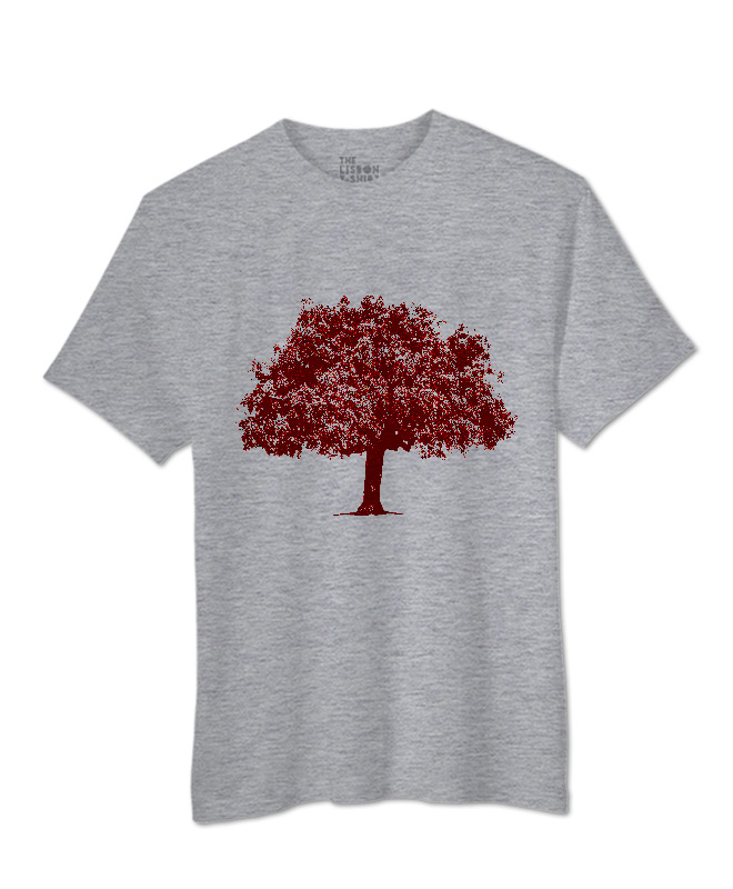 Red Cork Oak T-shirt heather grey creativelisbon