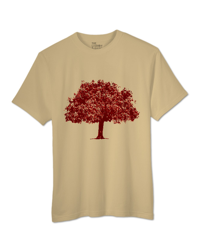 Red Cork Oak T-shirt sand creativelisbon