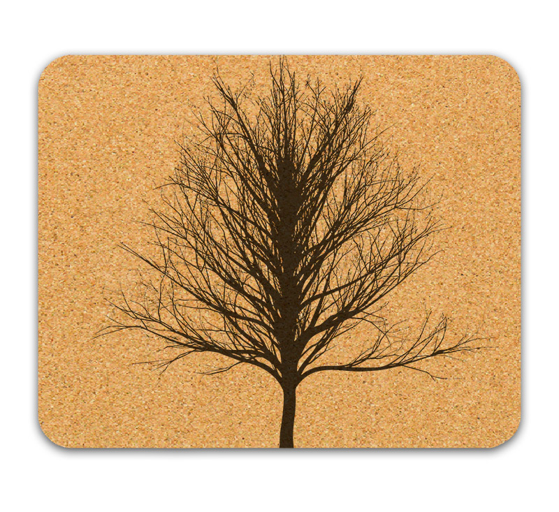 Winter tree cork mousepad