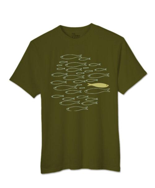 yellow sardine t-shirt khaky creative lisbon