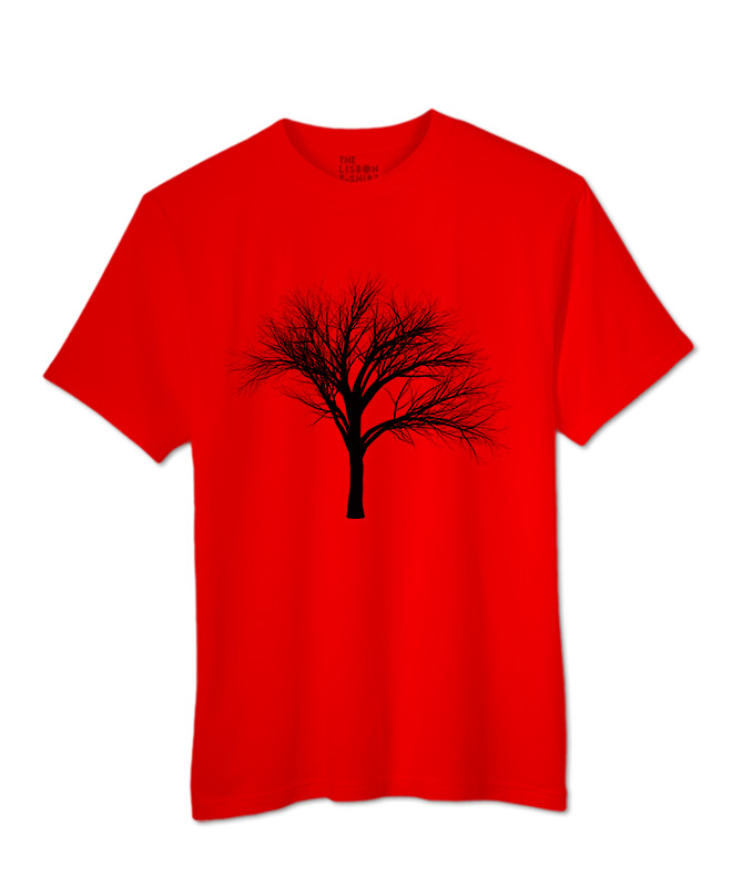 black fan tree t-shirt red creative lisbon