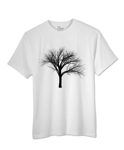 black fan tree t-shirt white creative lisbon