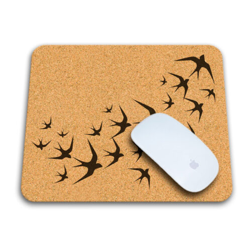 Mouse Pad Black Swallows