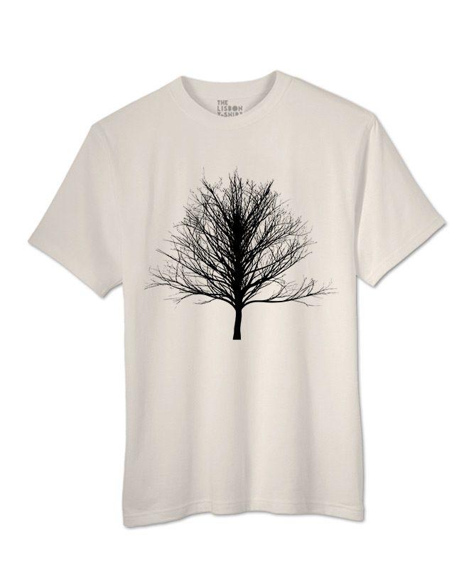 Black Winter Tree T-shirt natural colour creativelisbon