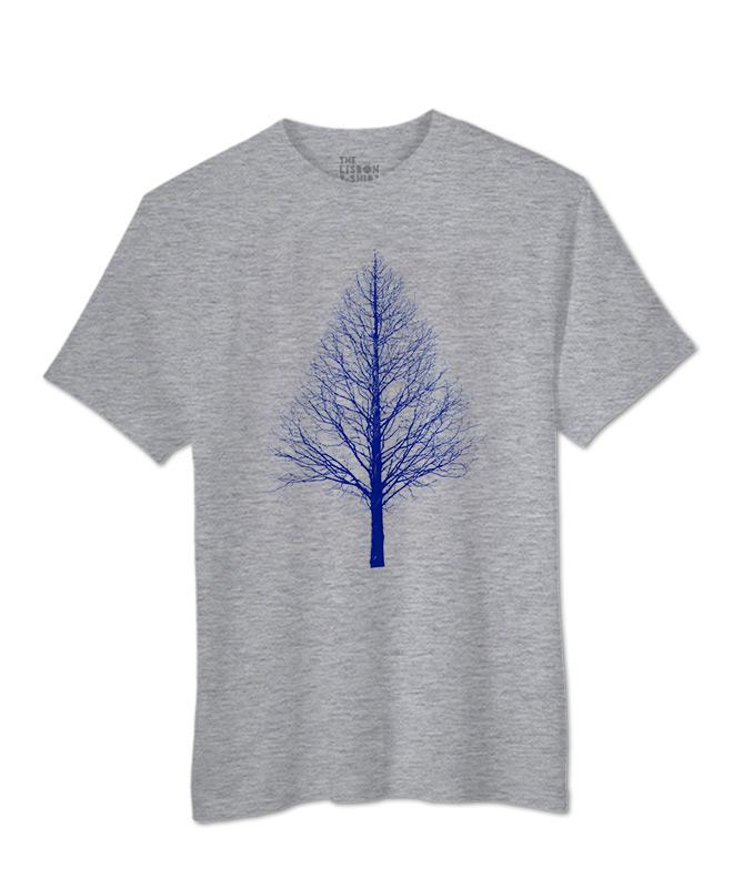 Blue Pyramid Tree T-shirt