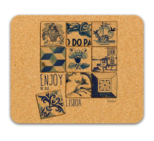 Enjoy the blue cork mousepad