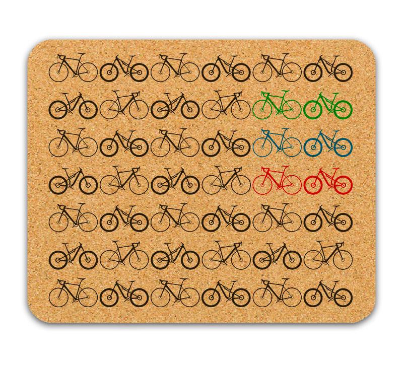Mini Bikes Cork Mousepad