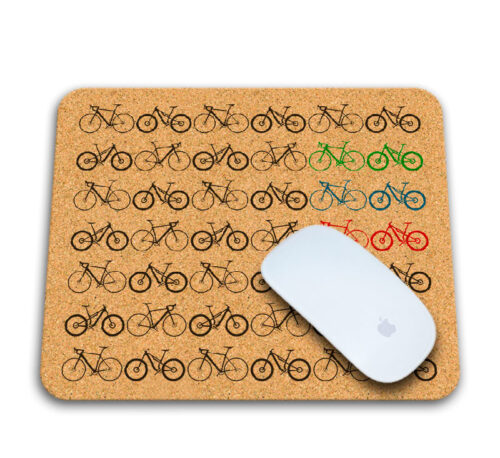 Mini Bikes Cork Mousepad