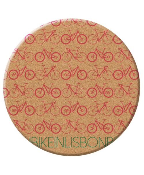 Bike in Lisbon Trivet red printing