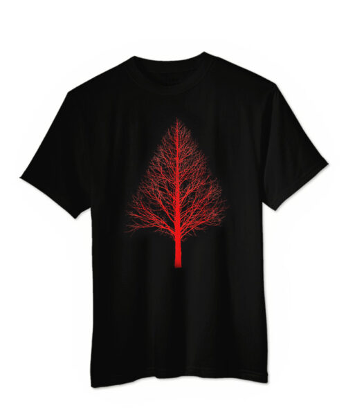 Red Pyramid Tree T-shir
