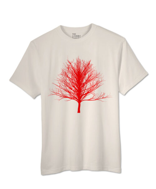 Red Winter Tree T-shirt natural colour creative lisbon