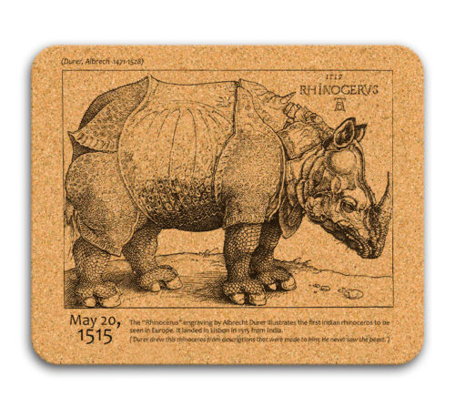 Rhinocerus cork mousepad