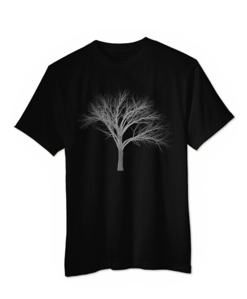 Silver Fan Tree T-shirt black colour creativelisbon
