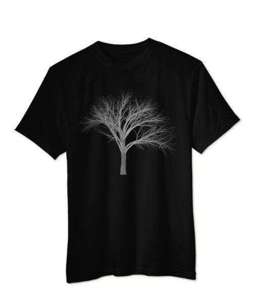 Silver Fan Tree T-shirt black colour creativelisbon