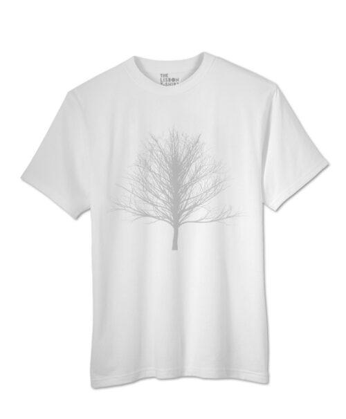 Silver Winter Tree T-shirt white colour creativelisbon