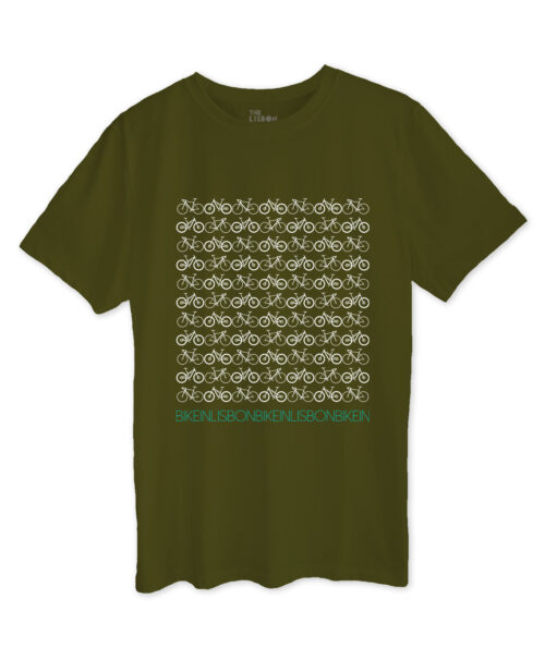 Bike in Lisbon Khaki T-shirt
