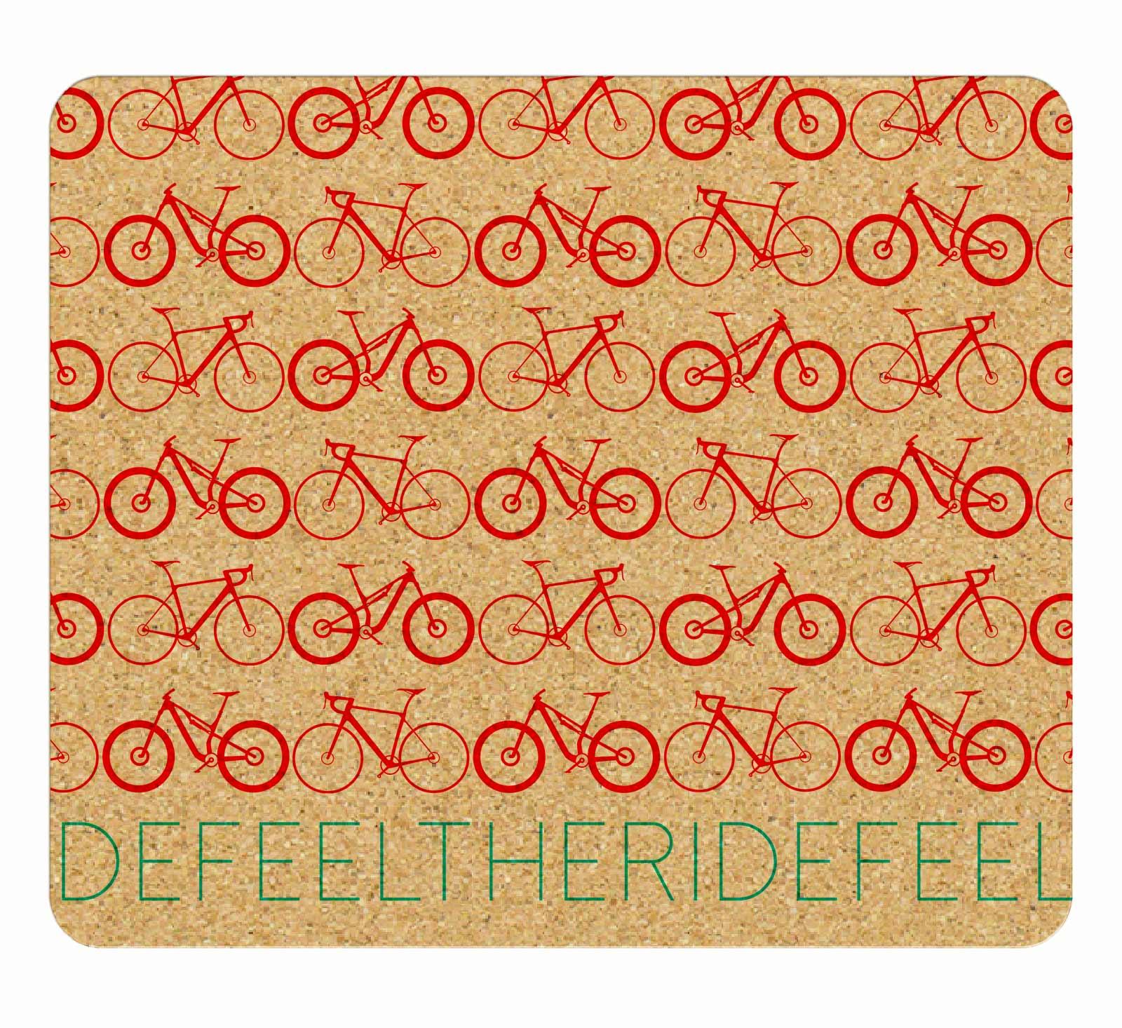 Mini Bikes Cork Mousepad red printing