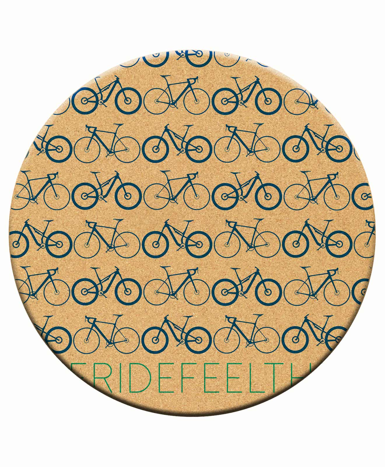 Cork Trivet Mini Bikes Available In Different Colours