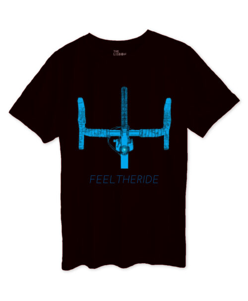 Road Bike Handlebar Black T-shirt blue printing part of bikes collection