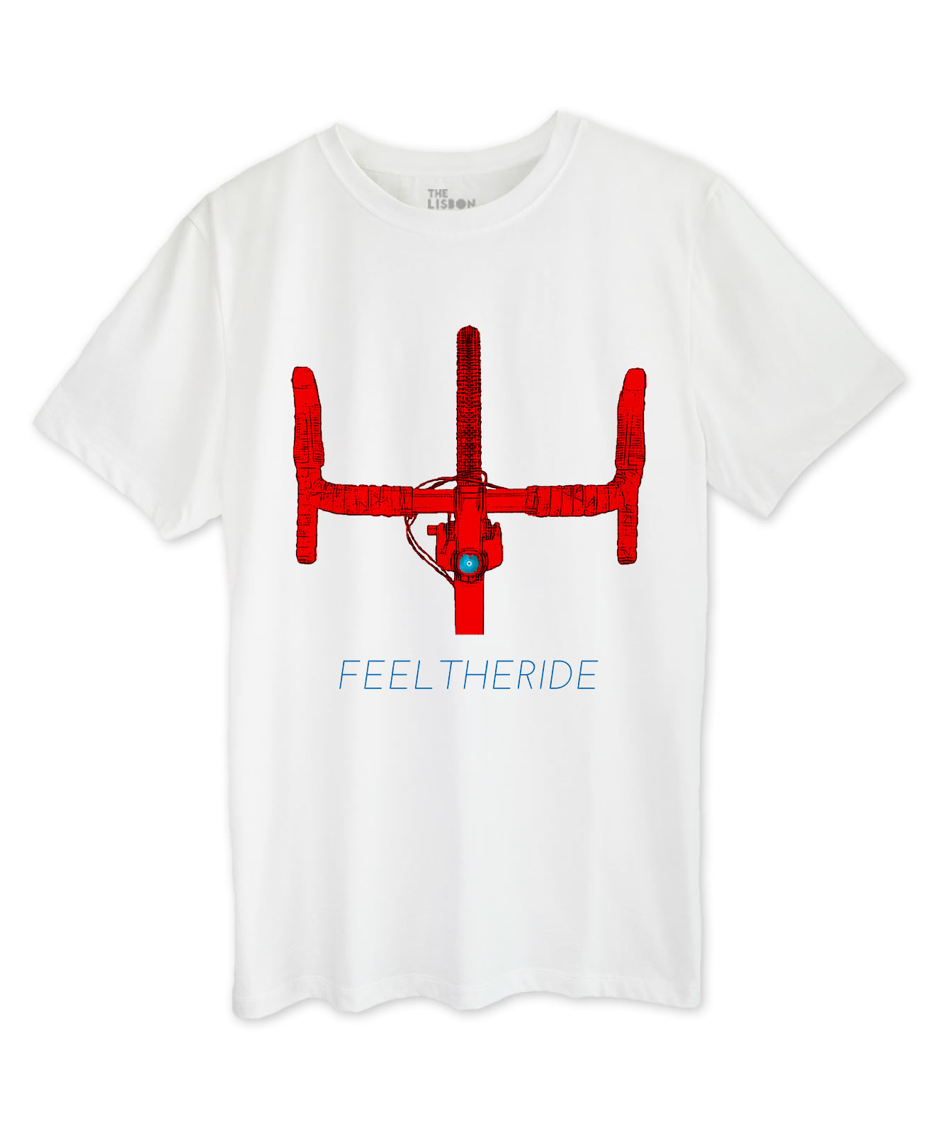 Road Bike Handlebar White T-shirt red printing part of bikes collection
