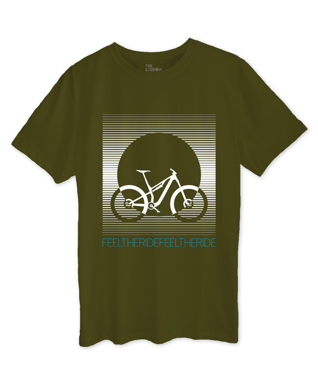 Bike Stripes MTB T-shirt kaki