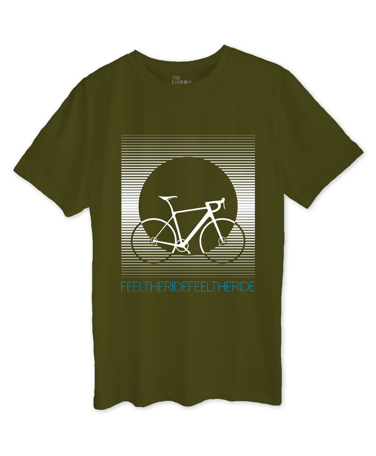 Bike Stripes Road T-shirt khaki