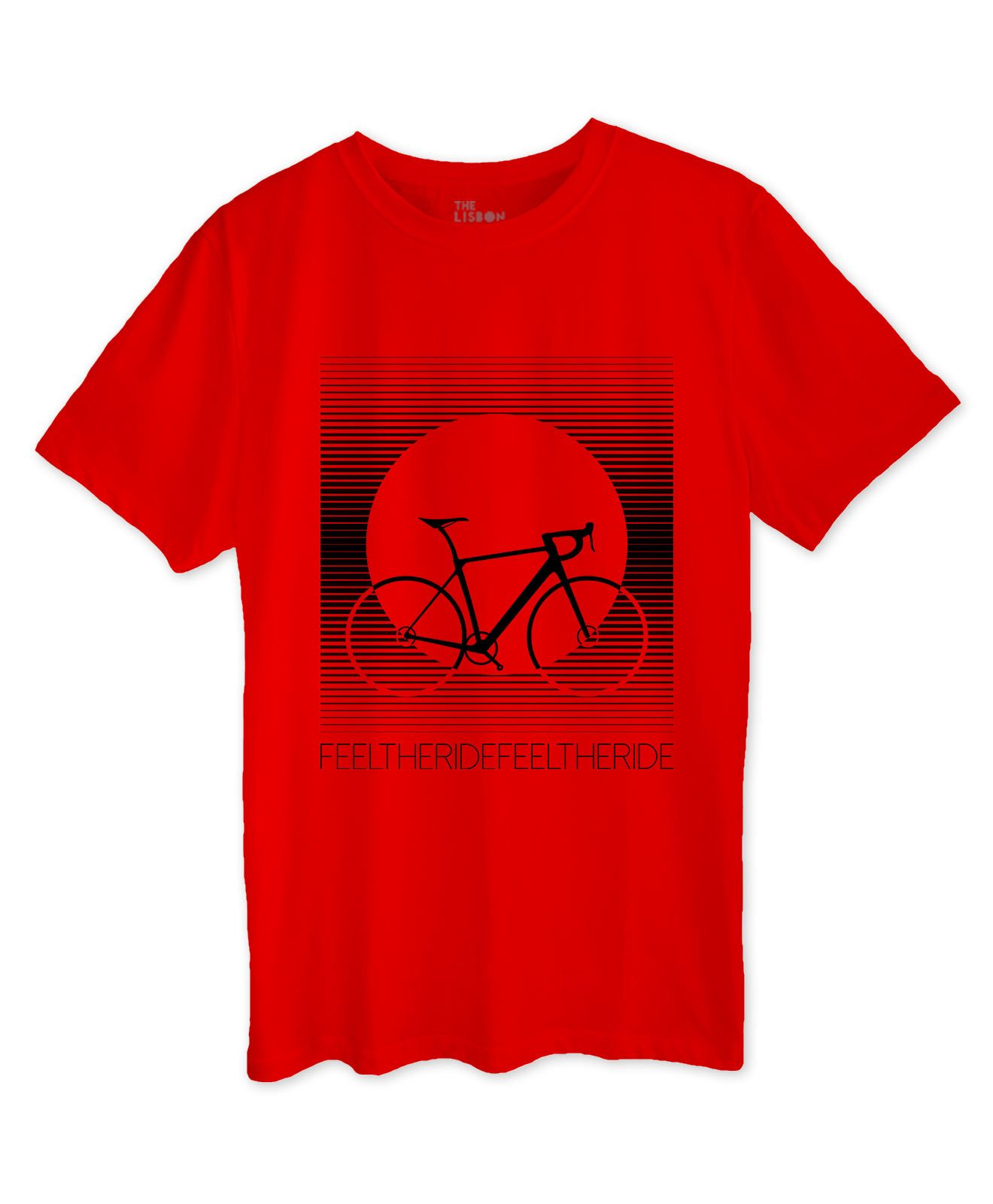 Bike Stripes Road T-shirt red bikes collection